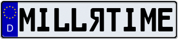 EEC German License Plate 000000