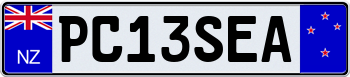 New Zealand European License Plate 000000