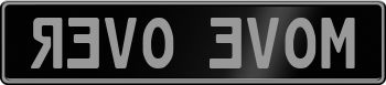 Black Plate With Silver Text 999999